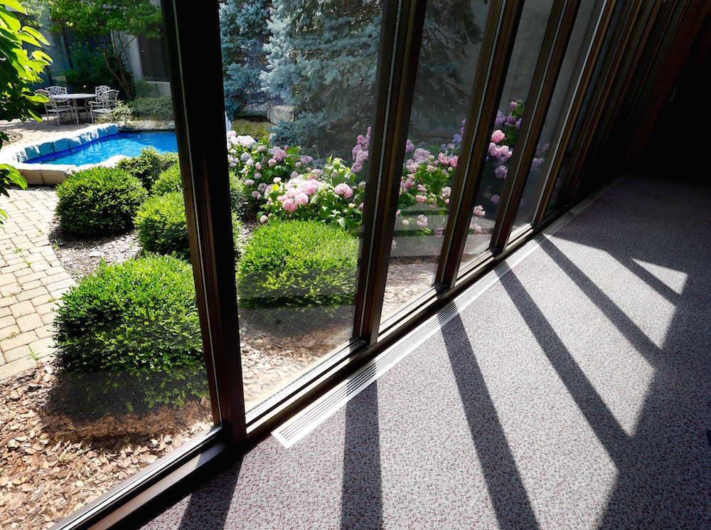 To access and maintain EKPC's interior courtyard, Klausing Group must enter through the building.