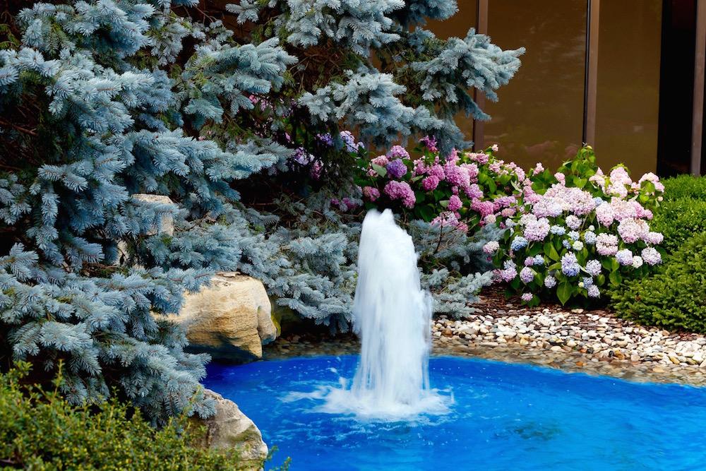 EKPC's interior courtyard includes a fountain.