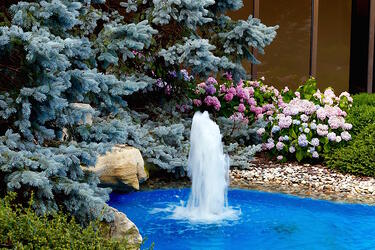 EKPC's interior courtyard includes a fountain.