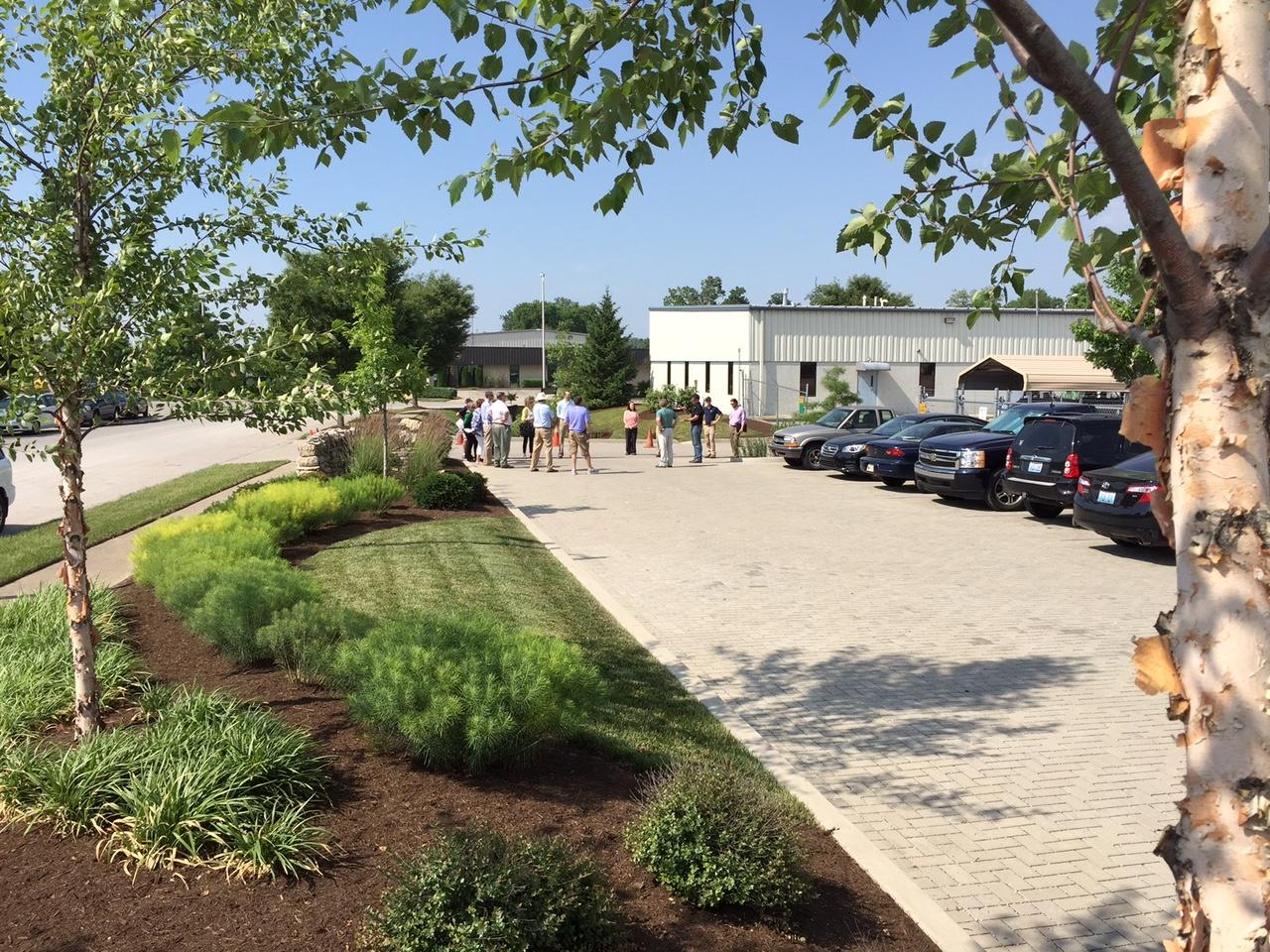 permeable paver parking lot